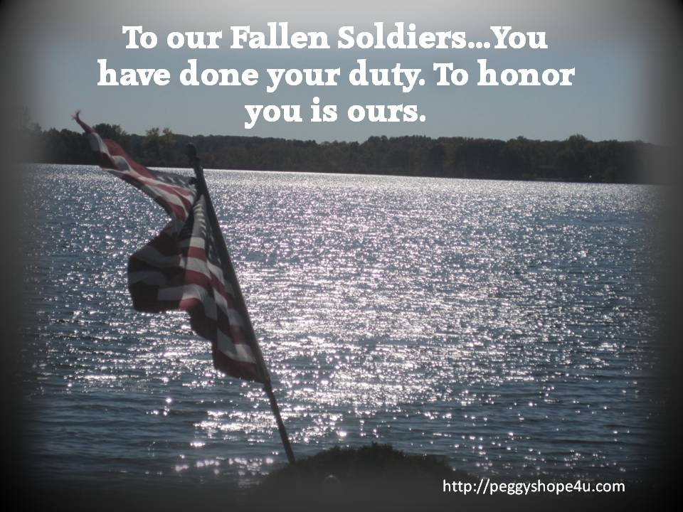 We do whatever is necessary to honor the fallen soldier and comfort the family.