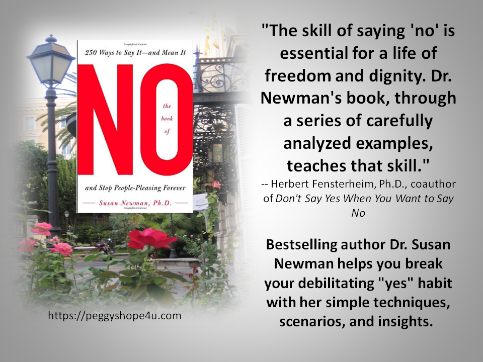 "Stop being a 'People Pleaser' and learn to say ""no!"""