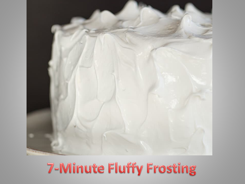 Chocolate Angel Food Cake requires fluffy marshmallow-like frosting