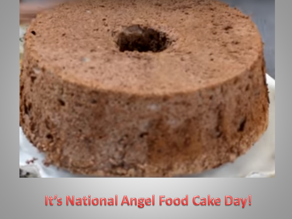 You can't beat Chocolate Angel Food Cake in October!