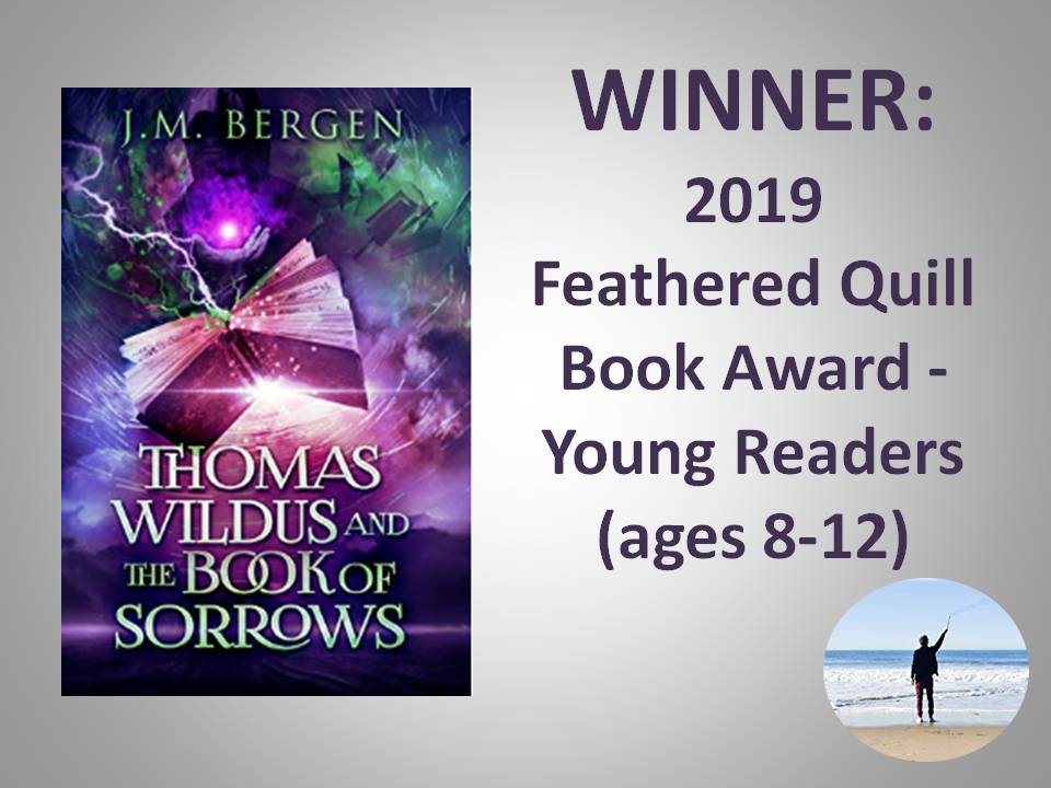 Thomas Wildus and the Book of Sorrows is a winner!