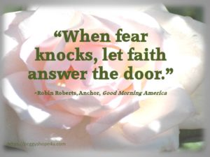 Can you use faith to manage your fears?